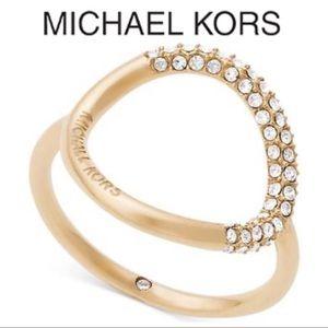 Michael Kors Brilliance Banded Circle Ring 7